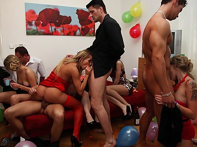 Magnificent college banging with enrapturing babes
